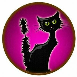 Black cats are often depicted to be frightening and the bearer of bad luck!