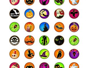 Consider using stickers for Halloween block party handouts