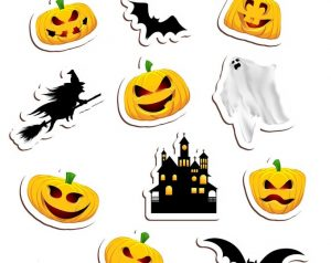Use stickers to spruce up your Halloween block party décor